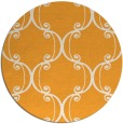 rug #744229 | round light-orange traditional rug