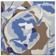 rug #746625 | square blue abstract rug