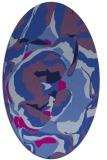 rug #746725 | oval pink natural rug