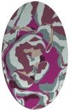 rug #746853 | oval pink rug