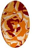 rug #746889   oval orange natural rug