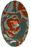 rug #746893 | oval beige natural rug