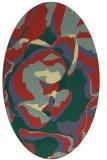 rug #746901 | oval yellow natural rug