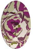 rug #746925 | oval purple popular rug