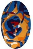 rug #746937 | oval red abstract rug