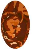 rug #746957 | oval abstract rug