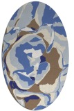 rug #746977 | oval blue graphic rug