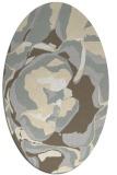 rug #746981 | oval beige abstract rug