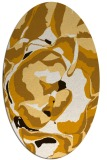 rug #746993 | oval brown graphic rug