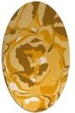 rug #747033 | oval light-orange abstract rug