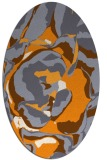 rug #747045 | oval light-orange abstract rug