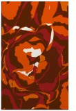 rug #747317 |  red-orange abstract rug