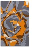 rug #747397 |  light-orange abstract rug