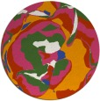 rug #747445 | round abstract rug