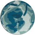rug #747449 | round blue-green abstract rug