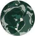 rug #747533 | round green abstract rug