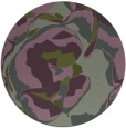 rug #747537 | round green abstract rug
