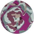 rug #747557 | round pink rug