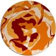 rug #747593   round orange natural rug