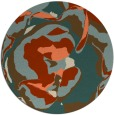 rug #747597 | round orange natural rug