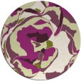 rug #747629 | round green abstract rug