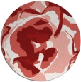 rug #747649 | round red abstract rug
