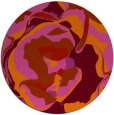 rug #747653 | round red graphic rug