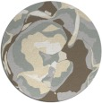 rug #747685 | round beige abstract rug