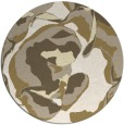 rug #747693 | round white abstract rug