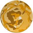 rug #747737   round light-orange graphic rug