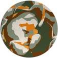 rug #747745 | round light-orange abstract rug