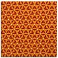 rug #751817 | square orange rug