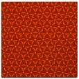 rug #751869 | square orange geometry rug