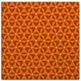 rug #751885 | square red-orange geometry rug