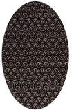 rug #751985 | oval black rug