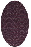 rug #752085 | oval beige geometry rug