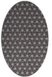 rug #752089   oval blue-violet geometry rug