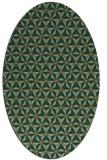 rug #752097 | oval brown rug