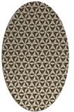 rug #752117 | oval white geometry rug