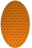 rug #752165 | oval orange geometry rug