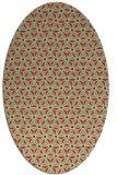 rug #752181 | oval yellow geometry rug