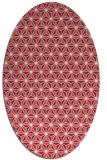 rug #752197 | oval pink geometry rug