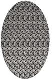 rug #752249 | oval black rug