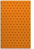 rug #752517    orange geometry rug