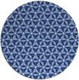 rug #752721 | round blue geometry rug