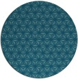 rug #752733 | round blue-green geometry rug