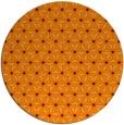 rug #752869 | round orange geometry rug