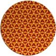 rug #752873 | round orange geometry rug