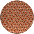 rug #752877 | round orange geometry rug