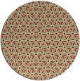 rug #752885 | round yellow rug